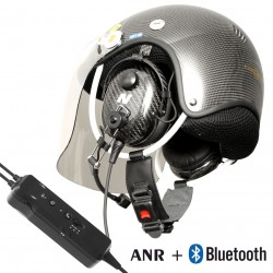 Made entirely of carbon fiber a PPG communication helmet with ANR and Bluetooth