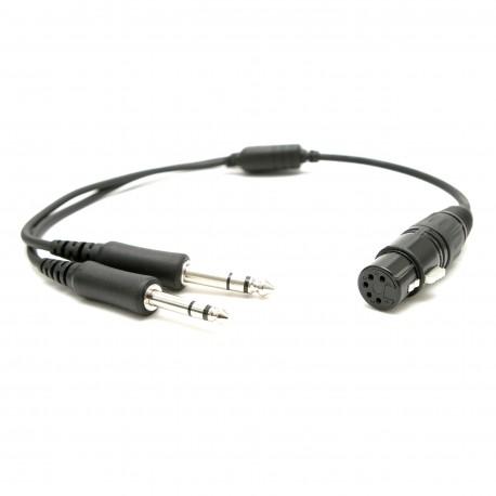 Adaptor do słuchawek lotniczych XLR na PJ