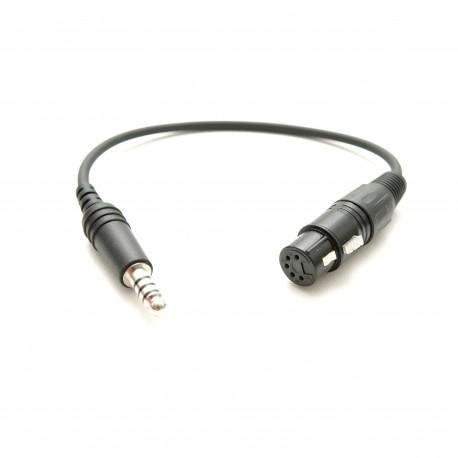 Adaptor do słuchawek lotniczych XLR na U174U