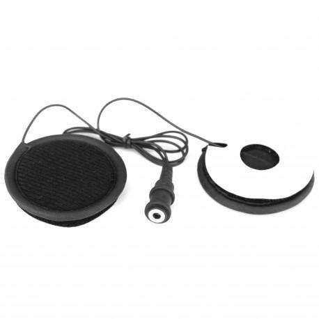 Helmet headphones with Velcro