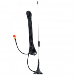 Dual-band car antenna with magnetic base and SMA-F, 30 cm