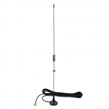 Dual-band car antenna with magnetic base and SMA-F