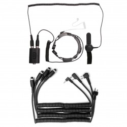 Throat microphone with dual sensor (dual PTT)