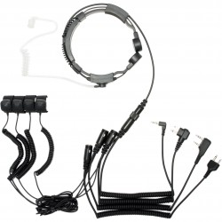 Throat microphone with dual sensor (finger PTT)