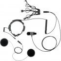 Laryngofon dwuprzetwornikowy z zestawem słuchawkowym do kasku (PTT na palec)