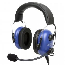Lekkie słuchawki lotnicze o konstrukcji hybrydowej