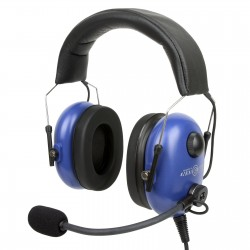 Light weight hybrid design aviation headset