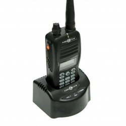 Handheld air-band radio with VOR and bluetooth