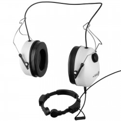 Hlemet headsets with laryngophone