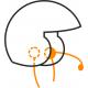 Headsets for open helmet