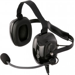 Under helmet headsets with horizontal headband