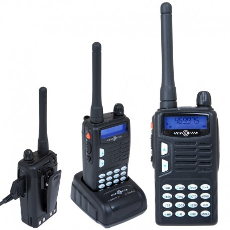 Handheld, 5W transceiver for 70cm band (UHF)
