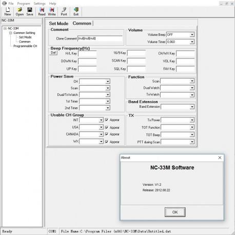 NC-33M programming software
