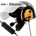 Kask paralotniowy do PPG z łącznością przewodową, Bluetooth i aktywnym tłumieniem