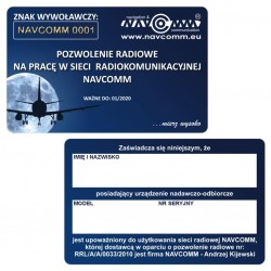Licence to work in  NAVCOMM radio network
