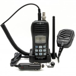 Portable, buoyant marine radio + ST set