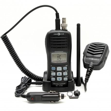 Portable, buoyant marine radio + ST set