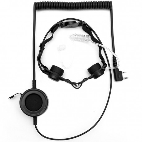 Throat microphone with dual sensor (waterproof PTT)