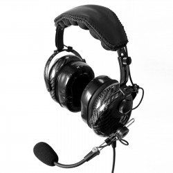 Carbon fiber aviation headset