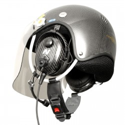 Made entirely of carbon fiber a PPG communication helmet