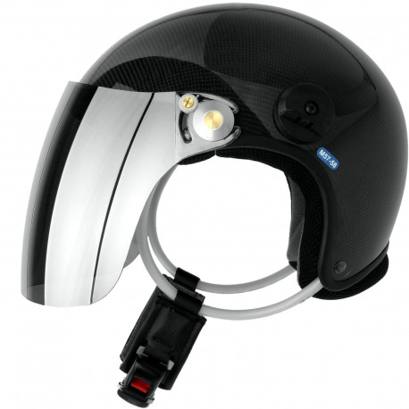 Carbon paragliding helmet for PPG witout communication set